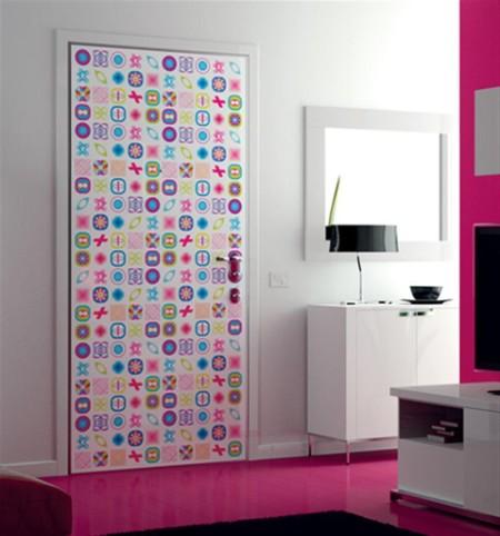 Adhesivo para decorar puertas - Decorar cristales de puertas ...